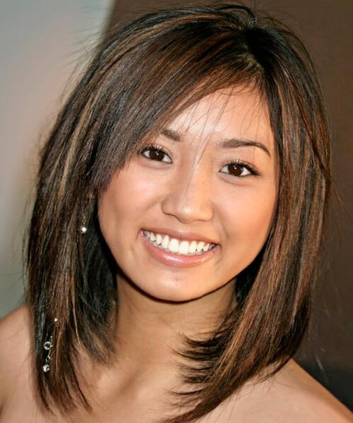 Best Hairstyles For A Round Face In Favorite Long Bob Hairstyles For Round Face (View 5 of 15)