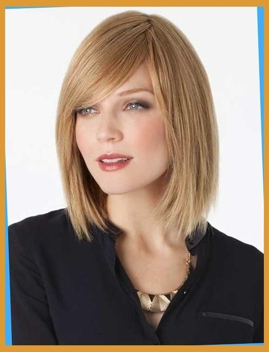 Bob Hairstyles 2015 In Well Known Long Bob Hairstyles With Side Swept Bangs (View 4 of 15)