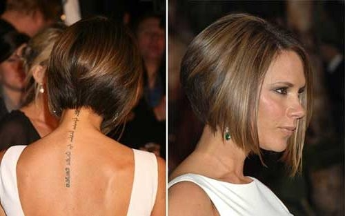 Featured Photo of Victoria Beckham Graduated Choppy Bob Hairstyles