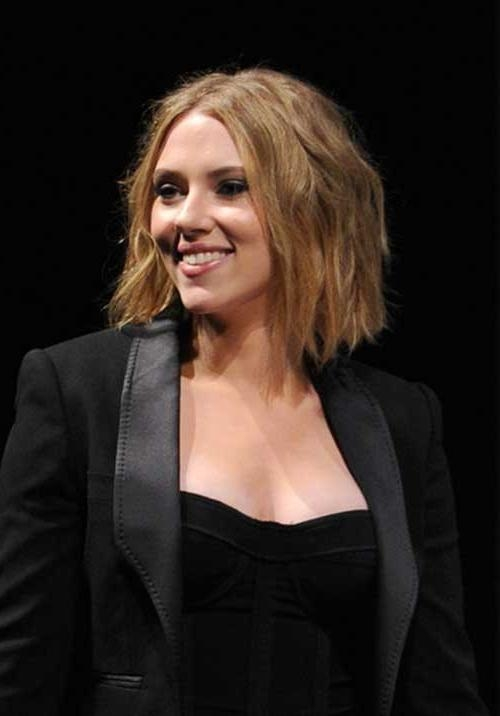 Bob Hairstyles 2017 – Short Hairstyles For Women Inside Favorite Scarlett Johansson Asymmetrical Choppy Bob Hairstyles (View 7 of 15)