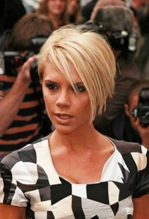 Bob Hairstyles 2017 With Famous Victoria Beckham Inverted Bob Hairstyles (View 7 of 15)