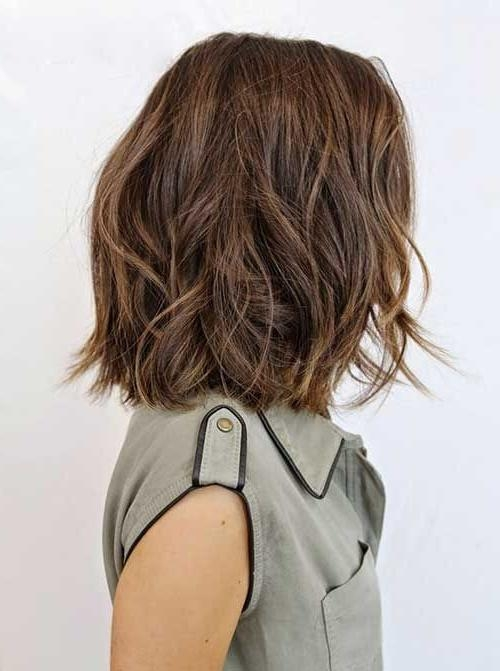 Bob Hairstyles Intended For Best And Newest Medium Bob Hairstyles For Wavy Hair (View 6 of 15)