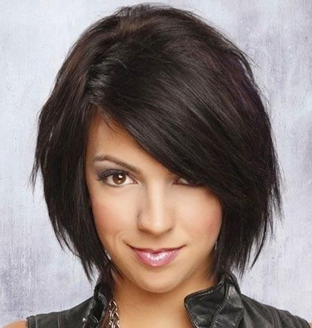 Featured Photo of Medium Bob Hairstyles With Side Bangs