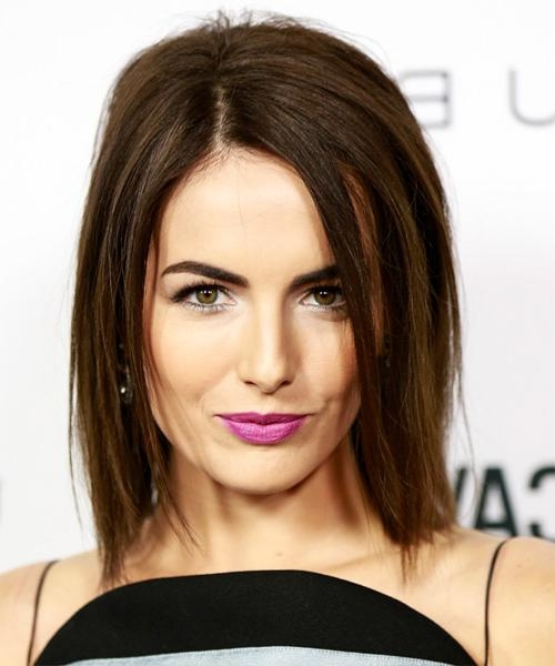 Camilla Belle Medium Straight Casual Bob Hairstyle – Dark Brunette In Newest Camilla Belle Shoulder Length Bob Hairstyles (View 3 of 15)
