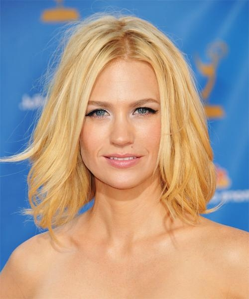 Celebrity Hairstyles In Latest January Jones Shoulder Length Bob Hairstyles (View 5 of 15)