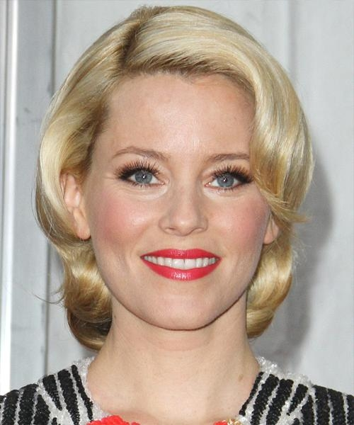 Celebrity Hairstyles Inside Fashionable Elizabeth Banks Shoulder Length Bob Hairstyles (View 7 of 15)