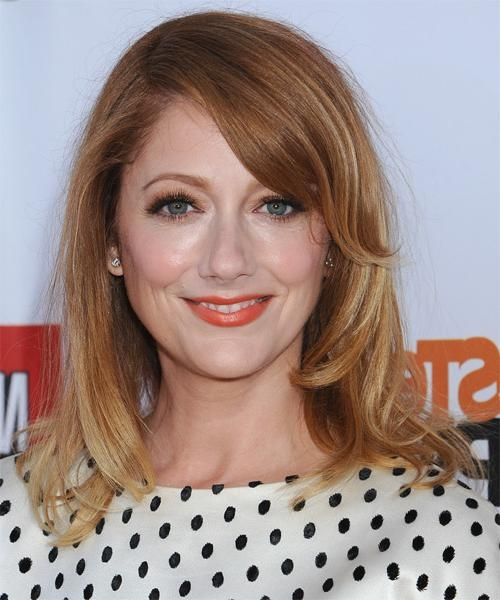 Celebrity Hairstyles With 2018 Judy Greer Shoulder Length Bob Hairstyles (View 4 of 15)