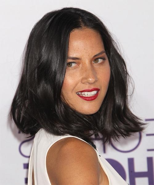 Celebrity Hairstyles With Favorite Olivia Munn Shoulder Length Bob Hairstyles (View 2 of 15)