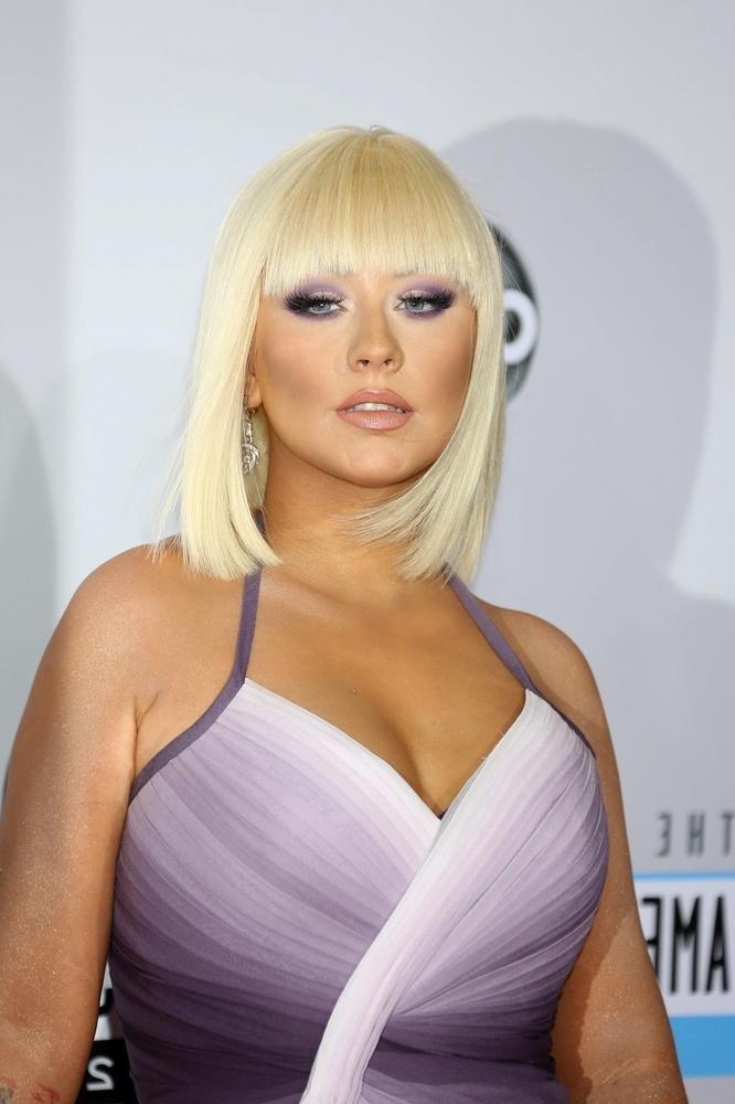 Christina Aguilera Shoulder Length Bob Hairstyles 2013 With Trendy Christina Aguilera Shoulder Length Bob Hairstyles (View 9 of 15)