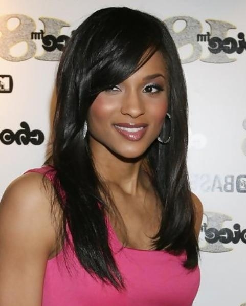 Ciara Long Hairstyle: Side Swept Part – Pretty Designs Intended For Ciara Long Hairstyles (View 6 of 15)