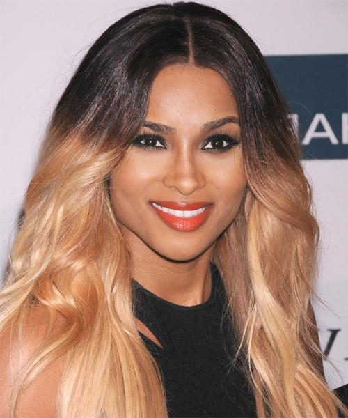 Ciara Long Straight Casual Bob Hairstyle – Black Hair Color Inside Ciara Long Hairstyles (View 8 of 15)