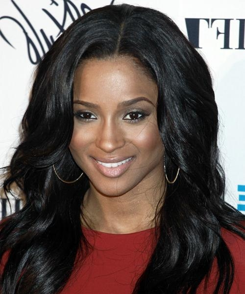 Ciara Long Wavy Casual Hairstyle For Ciara Long Hairstyles (View 9 of 15)