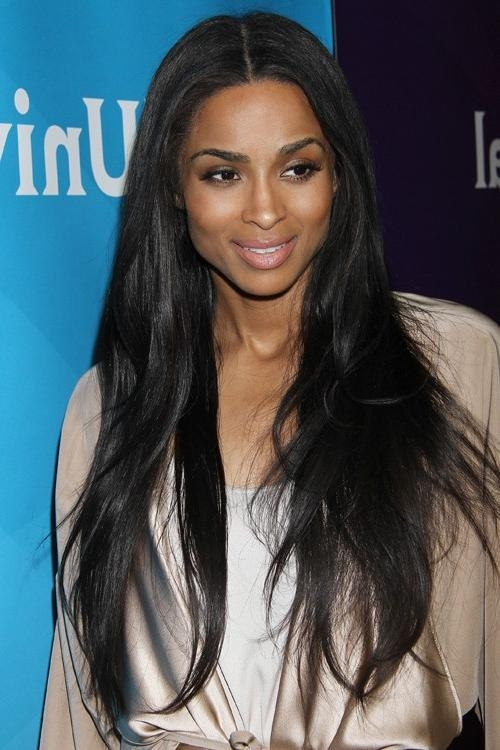 Ciara Straight Black Long Layers Hairstyle | Steal Her Style With Ciara Long Hairstyles (View 10 of 15)