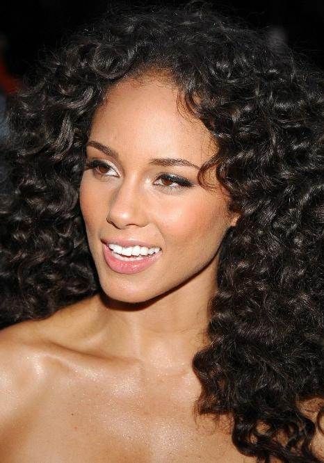Current African American Long Hairstyles Intended For African American Long Natural Curly Hairstyle – Hairstyles Weekly (View 14 of 15)