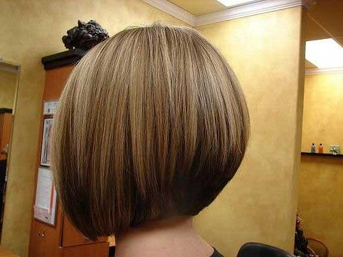Current Inverted Bob Haircut Back View Intended For 25 Short Inverted Bob Hairstyles (View 1 of 15)