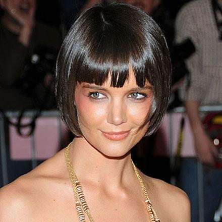 Current Katie Holmes Short Bob Hairstyles Intended For Holmes Bob Hairstyle  (Gallery 7 Of 15