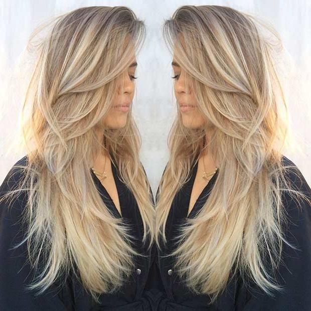 Current Long Haircuts In Layers Intended For 31 Beautiful Long Layered Haircuts | Stayglam (View 9 of 15)