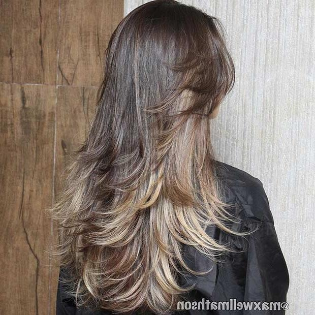 Current Long Haircuts With Layers With Regard To 31 Beautiful Long Layered Haircuts | Stayglam (View 9 of 15)