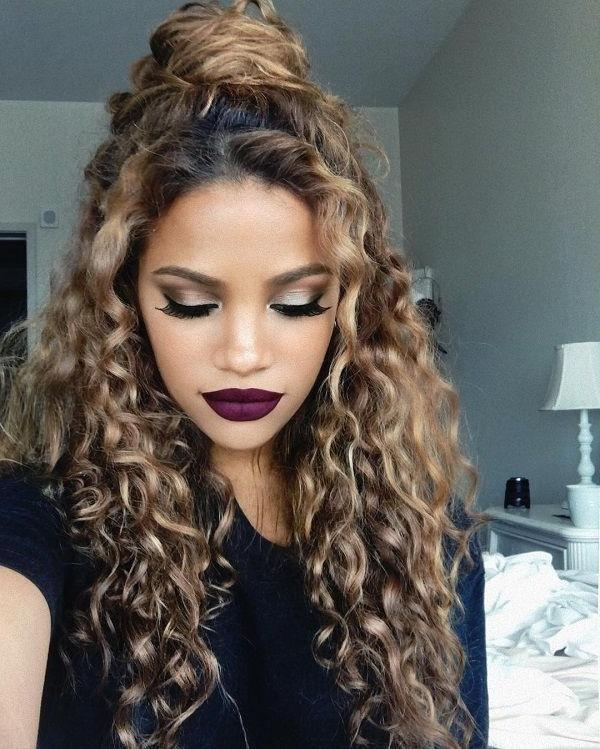 Current Long Hairstyles For Naturally Curly Hair With 15 Incredibly Hot Hairstyles For Natural Curly Hair | Natural (View 3 of 15)
