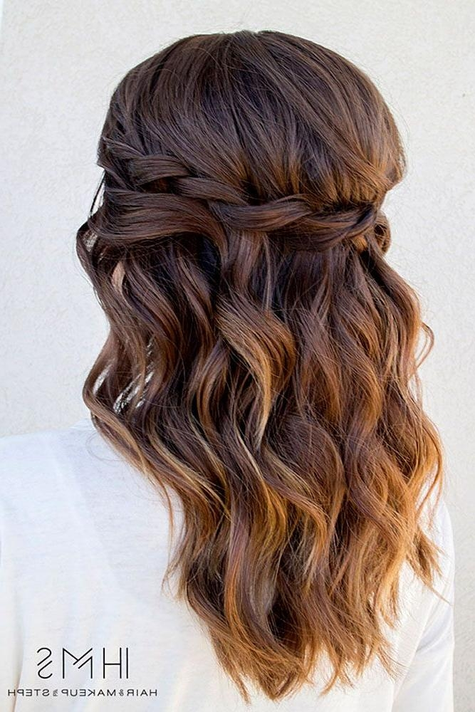 Current Long Hairstyles For Wedding Party With Best 25+ Bridesmaids Hairstyles Ideas On Pinterest | Bridesmaid (View 4 of 15)