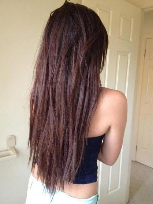 Current Long Hairstyles Front And Back View Regarding Best 25+ Long Straight Haircuts Ideas On Pinterest | Brown (View 7 of 15)