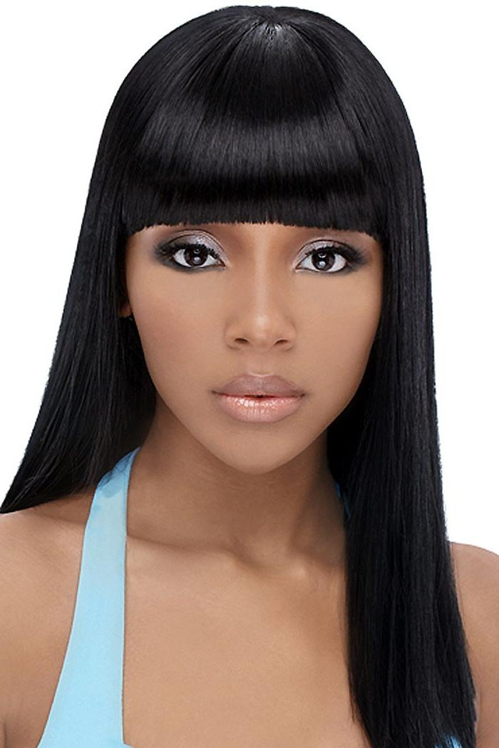 Current Long Hairstyles With Bangs For Black Women With Regard To Bangs Black Hairstyles – Hairstyle Foк Women & Man (View 2 of 15)