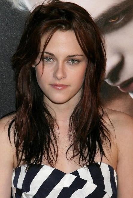 Current Messy Long Hairstyles Regarding Kristen Stewart Messy Long Wavy Hairstyle – Hairstyles Weekly (View 6 of 15)