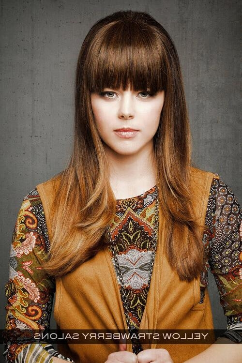 Current Round Face Long Hairstyles With Bangs Within 22 Foolproof Long Hairstyles For Round Faces You Gotta See (View 5 of 15)