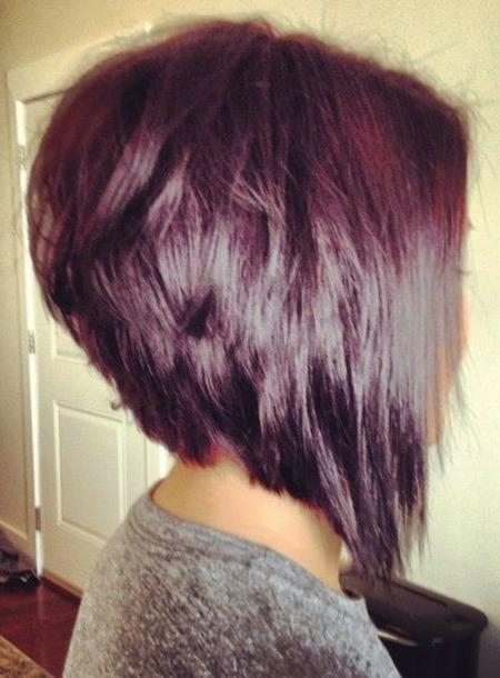 Cute Hairstyle In Most Popular Stacked Inverted Bob Hairstyles (View 9 of 15)