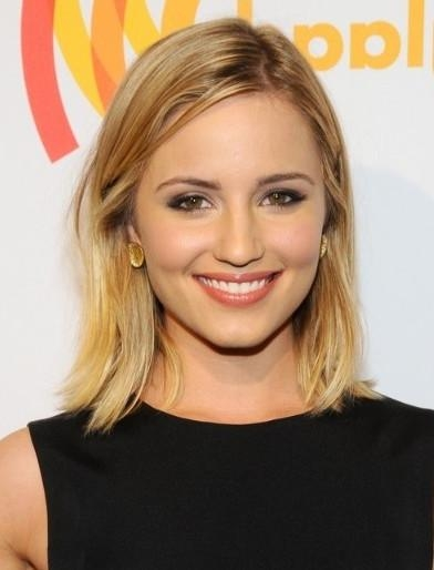 Dianna Agron Blonde Long Bob Haircuts – Popular Haircuts Inside 2017 Dianna Agron Bob Hairstyles (View 3 of 15)