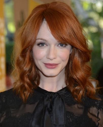 Famous Christina Hendricks Bob Hairstyles Regarding Christina Hendricks Hairstyles 2013 – Popular Haircuts (View 9 of 15)