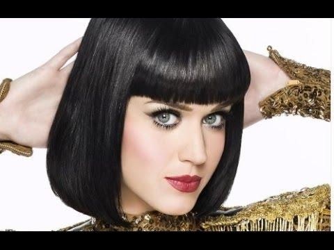 Famous Katy Perry Bob Hairstyles Regarding Katy Perry Bob Hairstyle – Youtube (View 3 of 15)