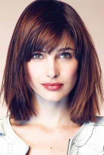Famous Medium Bob Hairstyles With Bangs For 50 Best Hairstyles For Square Faces Rounding The Angles (View 3 of 15)