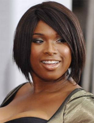 Fashionable Jennifer Hudson Bob Hairstyles Throughout Hudson With Black Bob Hairstyle (View 5 of 15)