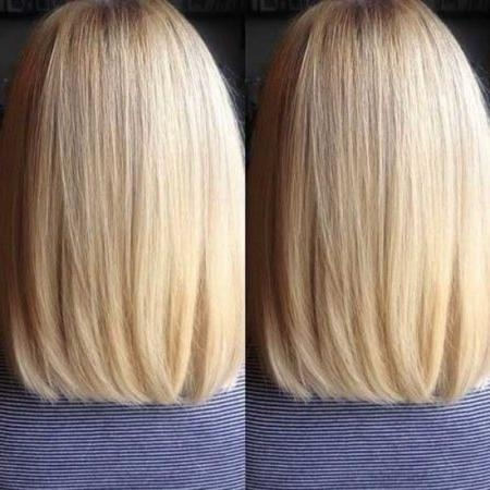 Fashionable Long Bob Hairstyles Back View Inside Long Bob Hairstyles Back View (View 2 of 15)