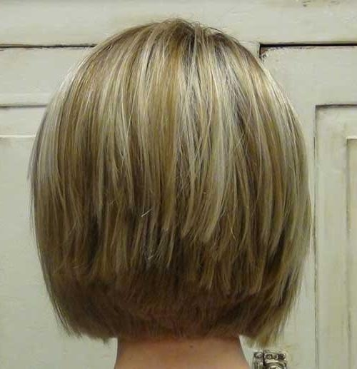 Fashionable Medium Length Inverted Bob Hairstyles For Fine Hair In Stacked Bob Fine Hair Also Blonde Haircut Back View – Bobs –  (View 7 of 15)