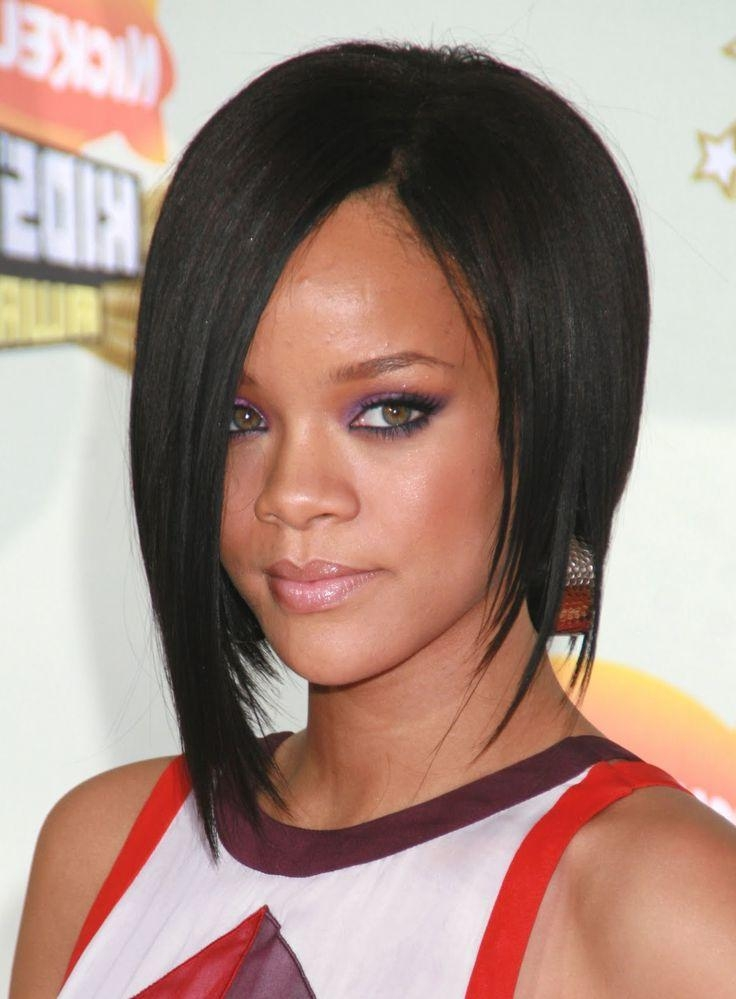 Fashionable Rihanna Shoulder Length Bob Hairstyles Regarding 223 Best Bob Haircuts Images On Pinterest (View 5 of 15)