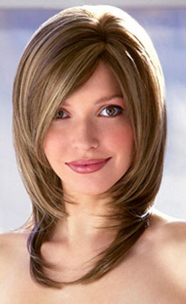 Favorite Medium Layered Bob Hairstyles Within Bob Haircuts : Medium Layered Bob Hairstyles For Women With Side (View 7 of 15)