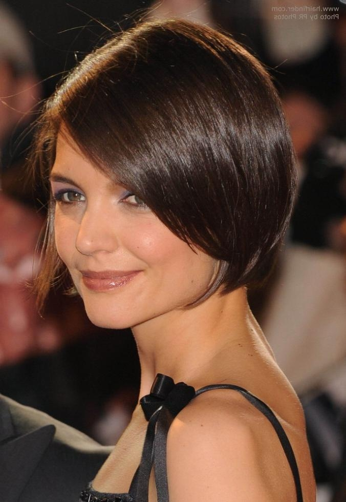 Favorite Olivia Wilde Bob Hairstyles With Katie Holmes' Neckline Revealing Haircut And Olivia Wilde's Hair (View 14 of 15)