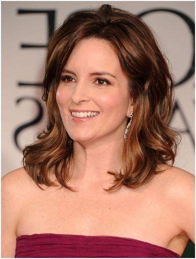Favorite Tina Fey Shoulder Length Bob Hairstyles Pertaining To Formal Hairstyles For Medium Hair, Tina Fey Wavy Haircut – Popular (View 6 of 15)