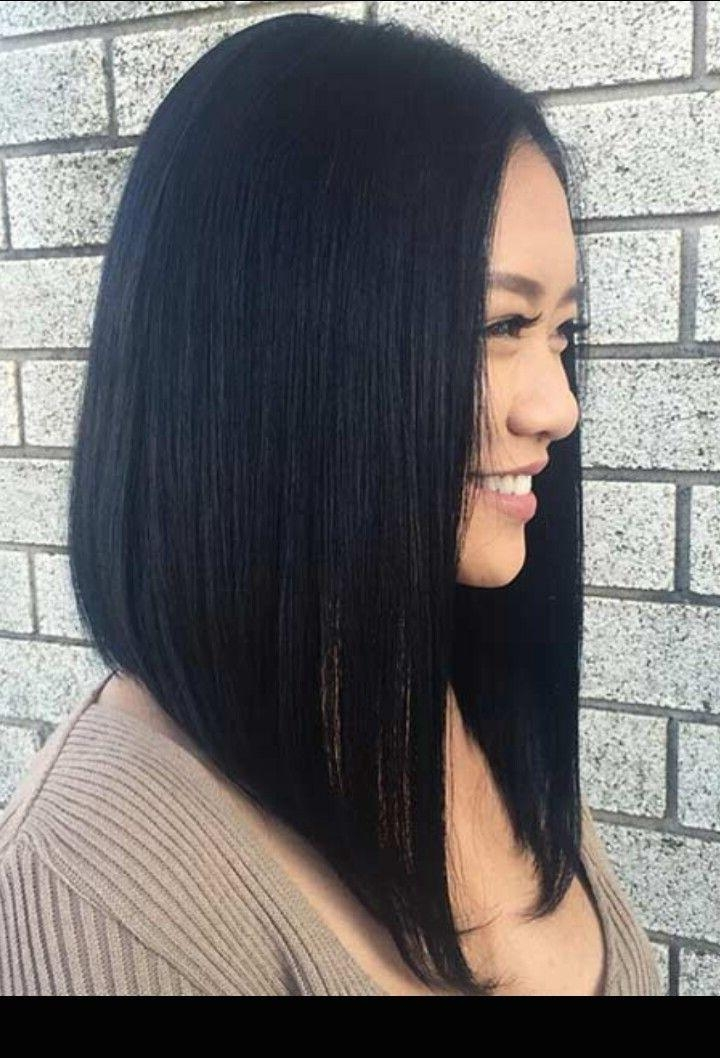 Featured Photo of Long Angled Bob Hairstyles