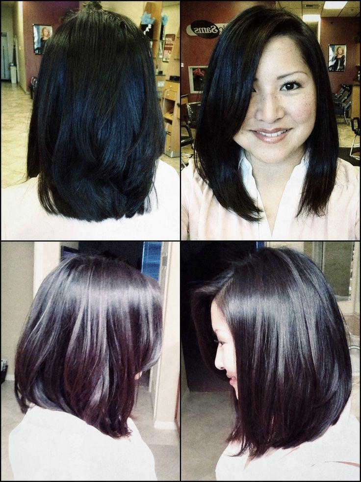 Hairstyles, Hairdos And With Regard To Trendy Long Layered Bob Hairstyles With Bangs (View 9 of 15)