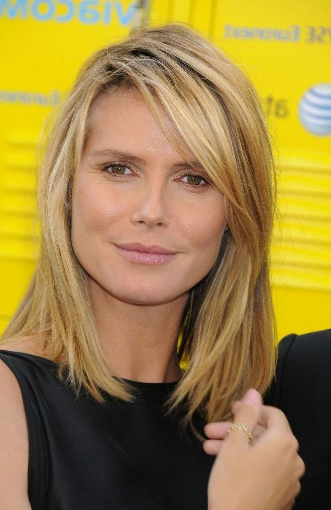 Hairstyles Medium Hair With Regard To Preferred Heidi Klum Shoulder Length Bob Hairstyles (View 7 of 15)