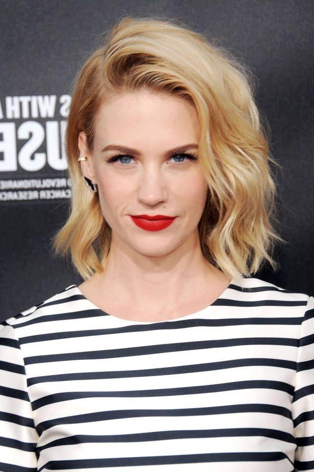 Hairstyles Throughout Trendy January Jones Shoulder Length Bob Hairstyles (View 6 of 15)