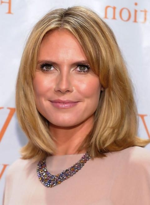 Heidi Klum Medium Length Hairstyle: Straight Bob – Pretty Designs With Well Known Heidi Klum Shoulder Length Bob Hairstyles (View 7 of 15)