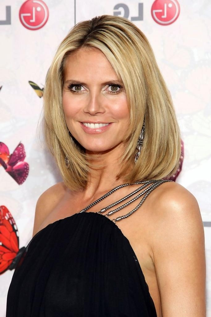 Heidi Klum Mid Length Bob – Heidi Klum Shoulder Length Hairstyles Within Best And Newest Heidi Klum Shoulder Length Bob Hairstyles (View 5 of 15)