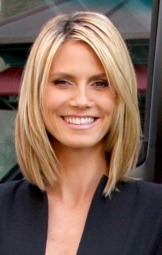 Featured Photo of Heidi Klum Shoulder Length Bob Hairstyles