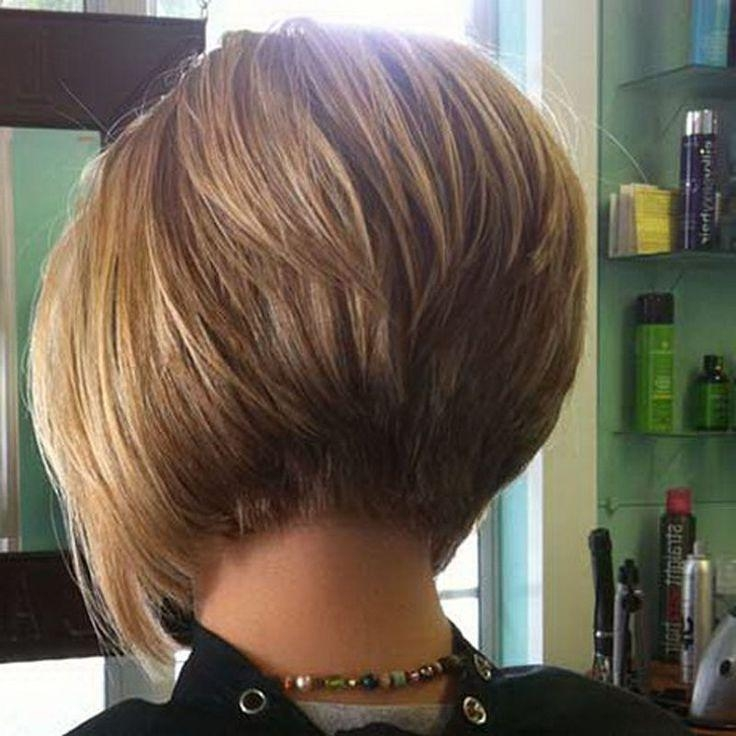 Popular Short Inverted Bob Haircut Back