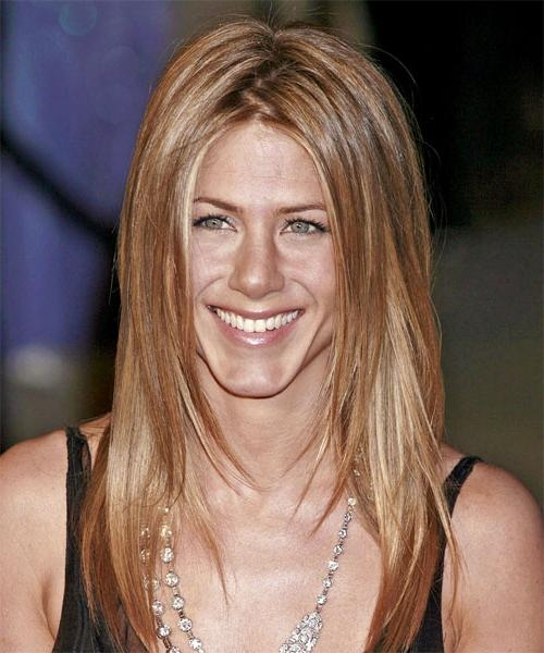 Jennifer Aniston Long Straight Casual Hairstyle – Light Brunette Pertaining To Jennifer Aniston Long Hairstyles (View 5 of 15)