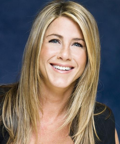 Jennifer Aniston Long Straight Casual Hairstyle – Medium Blonde Intended For Jennifer Aniston Long Hairstyles (Gallery 6 of 15)
